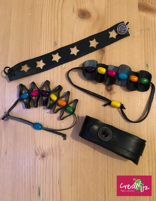 Creawijz fietsband armbandjes