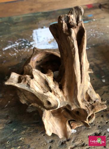 creawijz lamp hout ruwe vorm